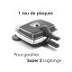 Plaques antiadhésives Gaufres coeur - Super 2 Gaufres