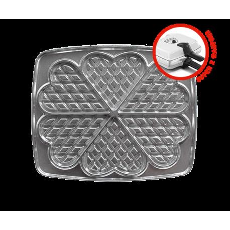 Super 2 Gaufres Waffle Maker - 6 waffles heart-shaped