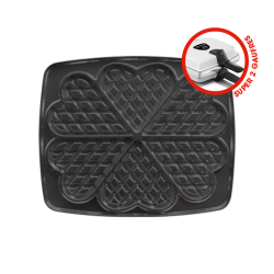 Non-stick coating plates for heart-shaped waffle - Super 2 Gaufres