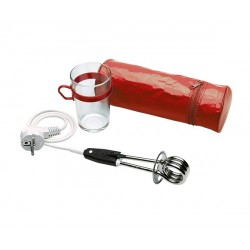 Travel immersion heater + pouch + glass - en