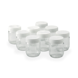 Set of 9 yoghurt jars