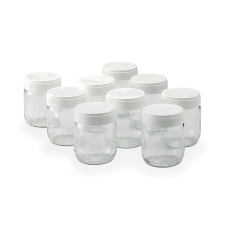 Set of 9 yoghurt jars - en