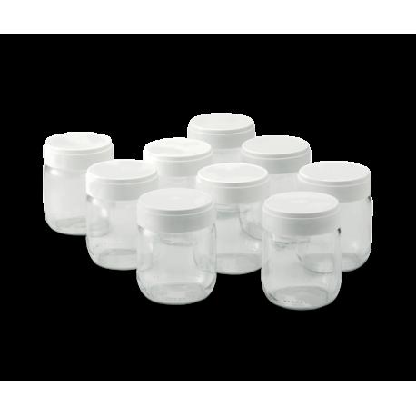 Jeu de 9 pots de yaourt