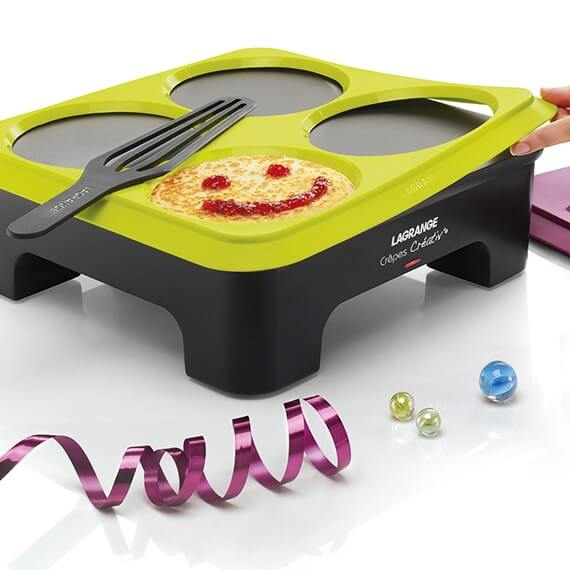 Créativ'® Crepe Makers with 2 Mould Stencils