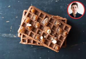 Gaufres chocolat et crème de marrons - en