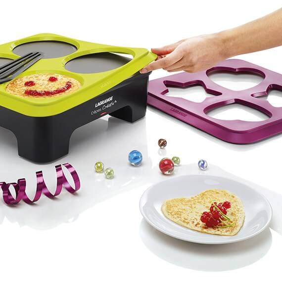 Créativ'® Crepe Makers with 3 Mould Stencils - en
