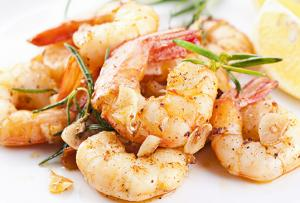 Curry Shrimp à la Plancha - en